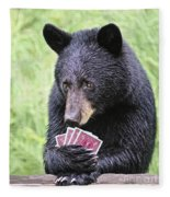 Black Bear Says I Call  Fleece Blanket