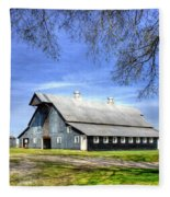White Windows Historic Hopkinsville Kentucky Barn Art Fleece Blanket
