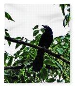 Black Bird Sings Fleece Blanket