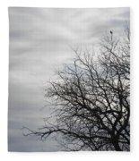 Black Birds Fleece Blanket