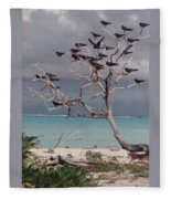 Black Birds Fleece Blanket