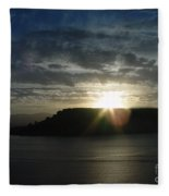 Black Butte Sunrise Fleece Blanket