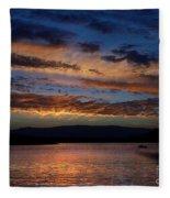 Black Butte Sunset Fleece Blanket