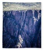 Black Canyon In Colorado Fleece Blanket