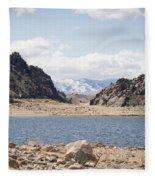 Black Canyon View - Pathfinder Reservoir - Wyoming Fleece Blanket