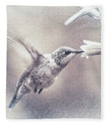 Black-chinned Hummingbird Fleece Blanket