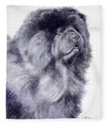 Black Chow Chow  Fleece Blanket