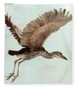 Black Crowned Night Heron 3junenile Roger Bansemer Fleece Blanket