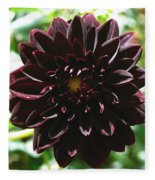Black Dalia  Fleece Blanket
