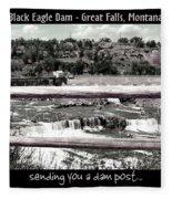 Black Eagle Dam Fleece Blanket