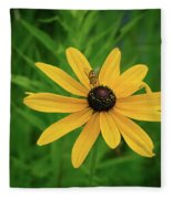 Black Eyed Susan And Friends Fleece Blanket