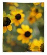 Black Eyed Susan Floral Fleece Blanket
