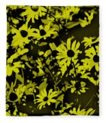 Black Eyed Susan's Fleece Blanket