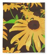 Black-eyed Susans Fleece Blanket