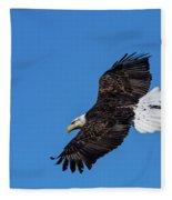 Black Feather Bald Eagle Fleece Blanket
