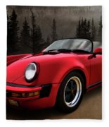 Black Forest - Red Speedster Fleece Blanket