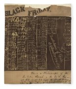 Black Friday, 1869 Fleece Blanket
