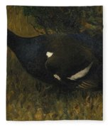 Black Grouse Cock Fleece Blanket