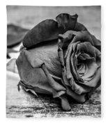 Black Heart Fleece Blanket