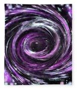 Black Hole Fleece Blanket
