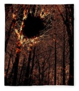 Black Hole Sun Fleece Blanket