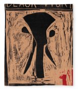 Black Ivory Issue 1 Woodcut Fleece Blanket