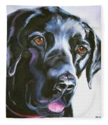 Black Lab No Ordinary Love Fleece Blanket