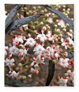 Black Lace Elderberry With Raindrops Fleece Blanket