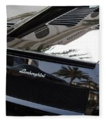 Black Lamborghini Sports Car  Fleece Blanket