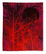 Black Moon Fleece Blanket