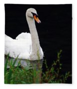 Black Mountain Swan Fleece Blanket