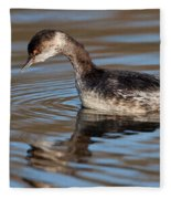 Black-necked Grebe About To Dive Fleece Blanket