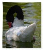 Black-necked Swan II Fleece Blanket