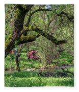 Black Oak And Creek Fleece Blanket