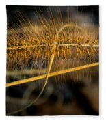 Black Pennisetum In Setting Sun Fleece Blanket