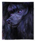 Black Poodle - Square Fleece Blanket