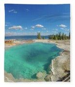 Black Pool, Yellowstone Fleece Blanket