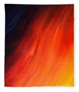 Black-red-yellow Abstract Fleece Blanket