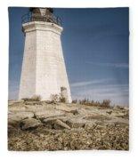 Black Rock Harbor Lighthouse II Fleece Blanket