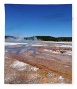 Black Sand Basin In Yellowstone National Park Fleece Blanket