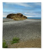 Black Sand Beach On The Lost Coast Fleece Blanket
