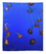 Black Sea Nettle Jellyfish - Monterey Fleece Blanket