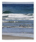 Black Skimmers In Ponce Fleece Blanket