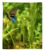 Black Swallowtail No. 2 Painterly Fleece Blanket