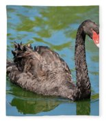Black Swan Fleece Blanket