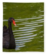 Black Swan II Fleece Blanket