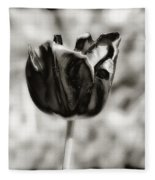 Black Tulip Fleece Blanket