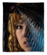 Black Veil Fleece Blanket