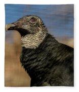 Black Vulture 1 Fleece Blanket