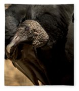 Black Vulture 2 Fleece Blanket